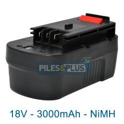 Batterie pour Black et Decker type NS118 - 18V NiMH 3000mAh