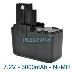 Batterie pour Bosch type 2607335032 - 7.2V NiMH 3000mAh