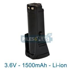 Batterie pour Bosch 2607336242 - 3.6V Li-Ion 1500mAh
