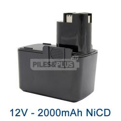 Batterie pour Bosch type 2607335151 - 12V NiCD 2000mAh