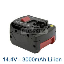 Batterie pour Bosch type 2607336078 - 14.4V Li-Ion 3000mAh