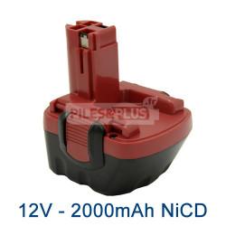Batterie pour Bosch type 2607335262 - 12V NiCD 2000mAh