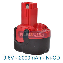 Batterie pour Bosch type 2607335260 - 9.6V NiCD 2000mAh
