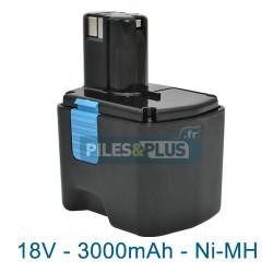 Batterie type Hitachi EB1826HL - NiMH 18V 3000mAh