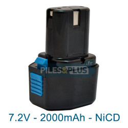 Batterie compatible Hitachi EB714S - 7.2V 2000mAh NiCD