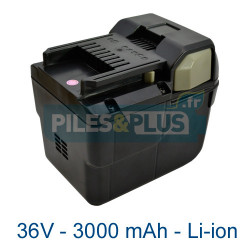 Batterie Hitachi 36V BSL3626 - 3000mAh Li-ion