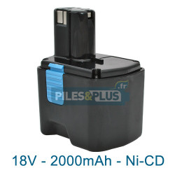 Batterie compatible Hitachi EB1814SL - NiCD 18V 2000mAh