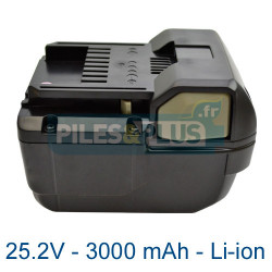 Batterie Hitachi BSL2530 3000mAh 25.2V Lithium ion