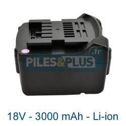 Batterie Li-Power Extreme Metabo 18V 3000mAh Li-ion