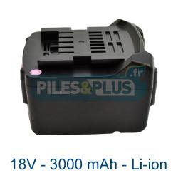 Batterie Li-Power Extreme Metabo 18V 3000mAh Li-ion