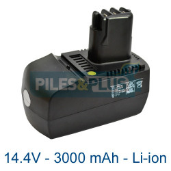 Batterie outillage Metabo Bsz 14.4 Impuls Li 3000mAh Li-ion