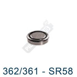 Pile montre 362/361 - SR58 - oxyde d'argent Maxell - 1.55V - par 1