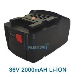 BATTERIE A.Q.PRO  METABO 36V 2.0AH LIION - 6.25453