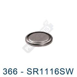 Pile montre 366 - SR1116SW - oxyde d'argent Maxell - 1,55V - par 1