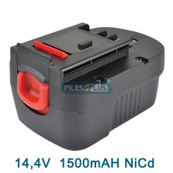 Batterie pour Black et Decker type CD142SK - 14.4V NICD 1500mAH