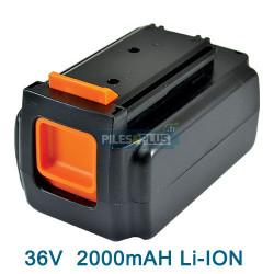 Batterie pour Black et Decker type BL2036 - 36V Li-Ion 2000mAh