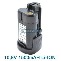 Batterie pour Bosch type 2607336863 - 10.8V Li-Ion 1500mAH