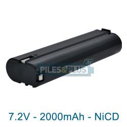 Batterie pour AEG ABS10 - 7.2V NiCD 2000mAh
