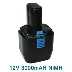 Batterie pour Hitachi type EB1230HL - 12V NiMH 3000mAh