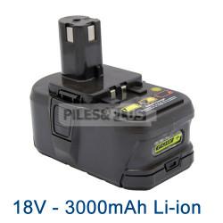 Batterie pour Ryobi BPL1820 - Li-Ion 18V 3000mAh