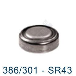 Pile montre 386 - SR43SW - pile oxyde d'argent Maxell - 1,55V