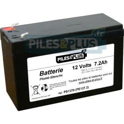Batterie 12V 7.2Ah - batterie plomb étanche rechargeable 12V 7Ah