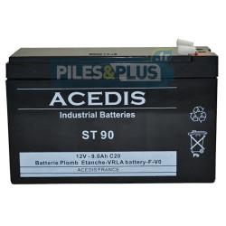Batterie 12V 9Ah - batterie au plomb étanche rechargeable Acedis