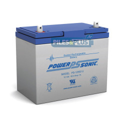 Batterie 12V 55Ah - batterie plomb étanche rechargeable Powersonic