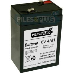 Batterie 6V 4Ah - batterie plomb étanche rechargeable spécial phare
