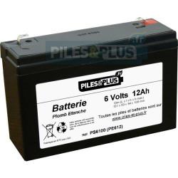 Batterie 6V 12Ah - batterie plomb étanche rechargeable