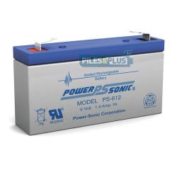 Batterie 6V 1,3Ah - batterie plomb étanche rechargeable Powersonic