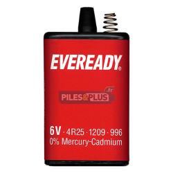 Pile saline 6V pour phare - ecoli 425 / 4R25 - Eveready