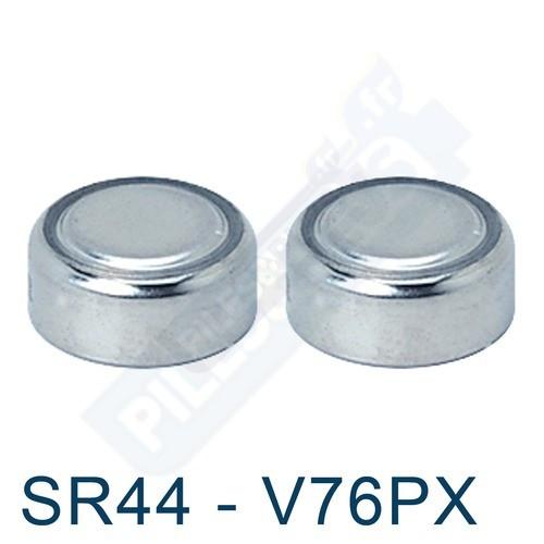 Pile bouton SR44 - EPX76 - oxyde d'argent V76P Energizer - par 2