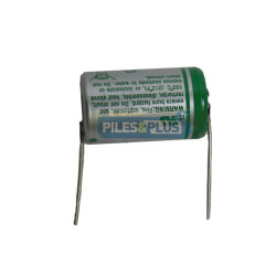 Pile SAFT LS14250 1/2 AA 3,6V - lithium industriel - Fil coaxial