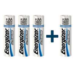 Pile lithium AA LR06 Energizer ultimate lithium 1,5V - 3+1