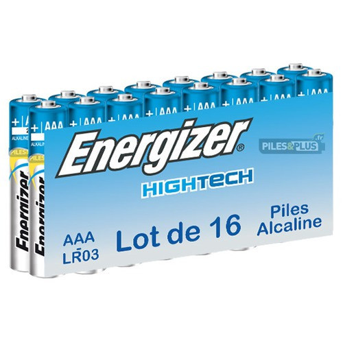 Pack de 16 piles AAA - LR03 - Energizer High Tech