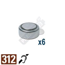 Pile auditive PR41 - pile zinc-air 312 Ansmann - par 6