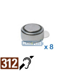 Pile auditive PR41 - pile zinc-air 312 Energizer - par 6