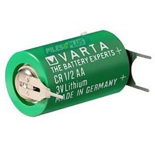 Pile CR1/2 AA - lithium 3V - Varta - Sortie picots