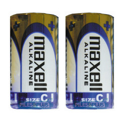 Piles LR14 - Pile C - pile alcaline Maxell 1,5V - par 2