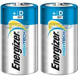 Pile D - LR20 - pile alcaline D Energizer High Tech 1,5V - par 2