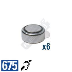 Pile auditive PR44 - pile zinc-air 675 Energizer - par 4