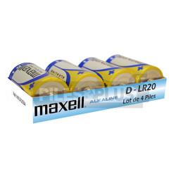 Pack Piles Alcaline D - LR20 Maxell 1.5V - Par 4