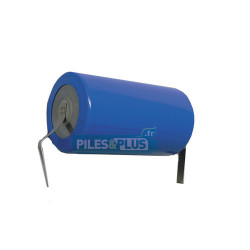 Pile lithium LS33600 D 3,6V - lithium-thionyl chloride - languettes