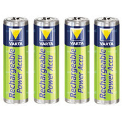 Piles rechargeables AA NiMH - accu HR6 2100mAh Varta - par 4