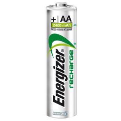 Piles rechargeables AA - 2400mAH - Préchargées - Energizer - par 2