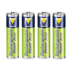 Piles rechargeables AAA NiMH - accu HR03 800mAh Varta - par 4