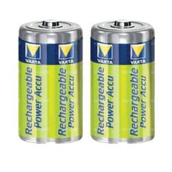 Piles rechargeables D HR20 NIMH - accu 3000mAh Varta - par 2