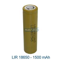Batterie LIR18650 lithium 18650 –1500mAh 3.7V - sans PCB LG