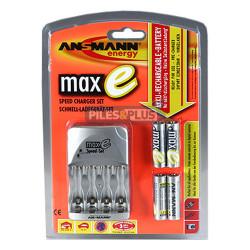 Chargeur de piles rapide Ansmann Maxe + 4 AA HR6 2100mAh déjà chargés